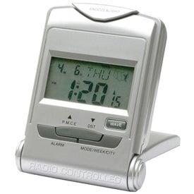 Imprinted Radio Controlled Digital Alarm Clock