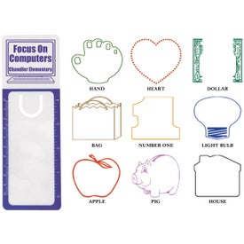 "Reader's Pal Bookmark Ruler Magnifier (4"")"