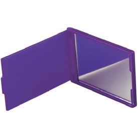 Imprinted Rectangle Flip Mirror