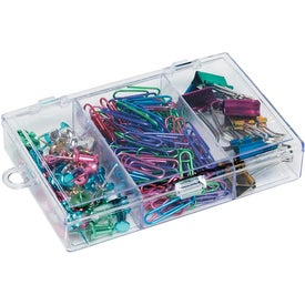 Rectangular Clear Case with Metallic Items with Your Logo
