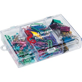 Rectangular Clear Case with Metallic Items