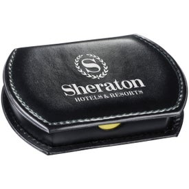 Refillable Leatherette Memo Case with Your Slogan