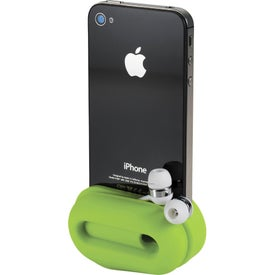 Promotional Rockz Amplifier and Earbud Wrap Phone Stand