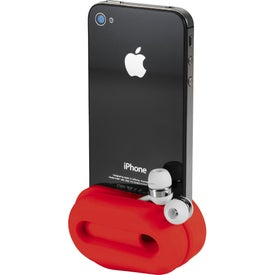 Printed Rockz Amplifier and Earbud Wrap Phone Stand
