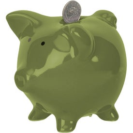 Rodeo Piggy Bank with Your Slogan