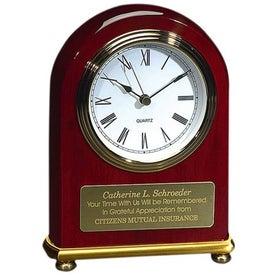 Rosewood Arch Clock