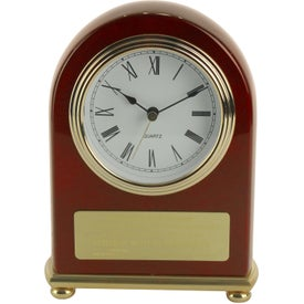 Rosewood Arch Clock for Your Company
