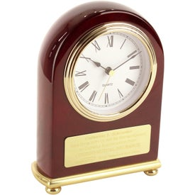 Rosewood Arch Clock for Customization