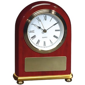Imprinted Rosewood Arch Clock