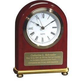 Personalized Rosewood Arch Clock