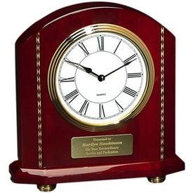 Rosewood Inlaid Mantle Clock