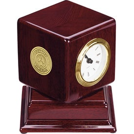 Rosewood Swivel Clock for your School