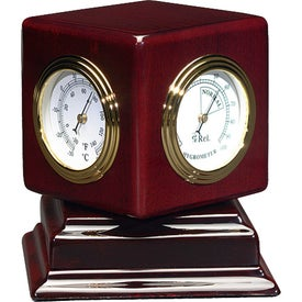 Rosewood Swivel Clock Giveaways