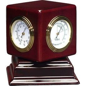 Rosewood Swivel Clock Giveaways
