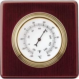 Personalized Rosewood Swivel Clock