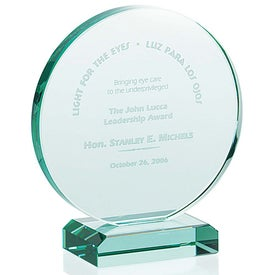 Round Award Imprinted with Your Logo