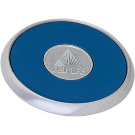 Logo Round Brushed Zinc Coaster Weight Coaster