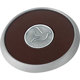 Round Brushed Zinc Coaster Weight Coaster Printed with Your Logo