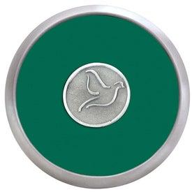 Logo Round Brushed Zinc Coaster Weight Coaster