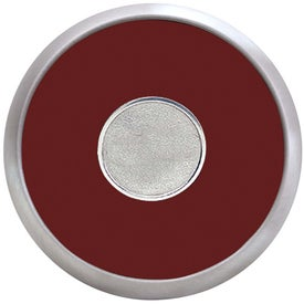 Round Brushed Zinc Coaster Weight Coaster for your School