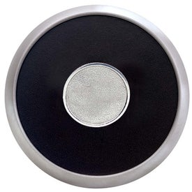 Round Brushed Zinc Coaster Weight Coaster