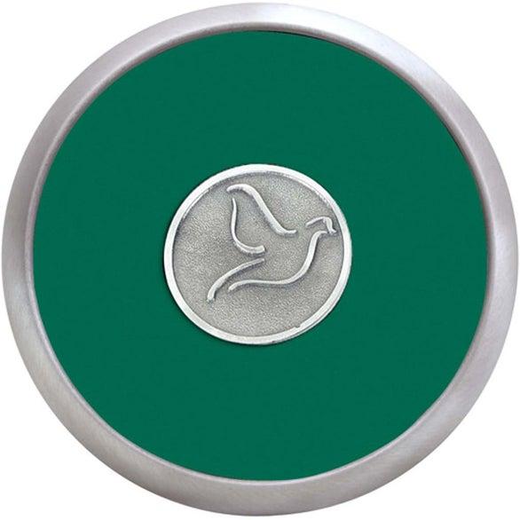Round Brushed Zinc Coaster Weight Coaster