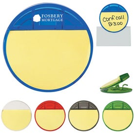 Customized Round Clip With Sticky Notes
