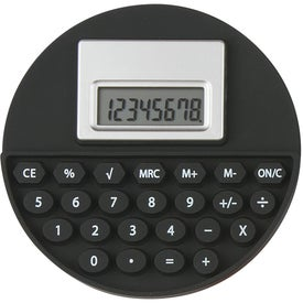 Round Flexi-Calc Printed with Your Logo