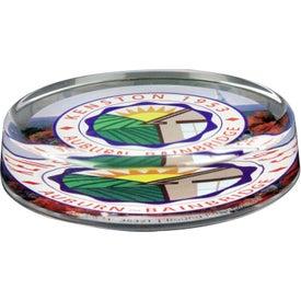 Logo Round Paperweight