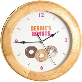 Personalized Round Wood Clock