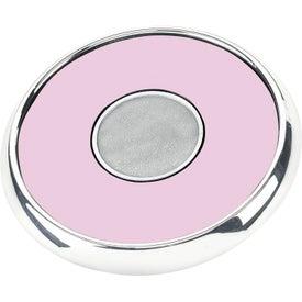 Logo Round Zinc Coaster Weight Coaster