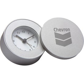 Round Coin Style Travel Alarm Clock for Promotion