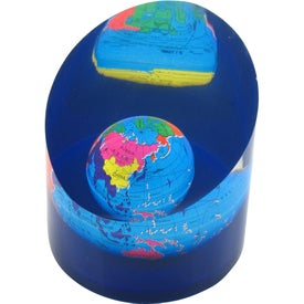 Round Pillar Globe Paperweight Imprinted with Your Logo