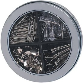 Deluxe Round Tin with Assortment of Clips / Pins for Customization