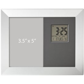 Salice Photo Frame Calendar Thermometer and Clock for Marketing