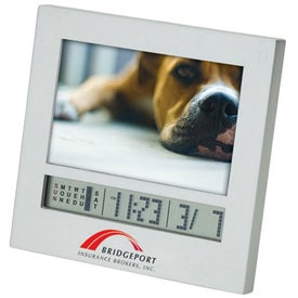 "Salice I Photo Frame Calendar and Mini Clock (3"" x 2"")"