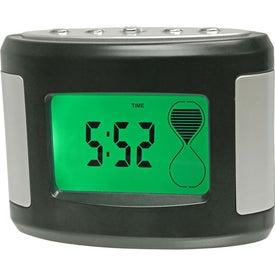 Promotional Sensor Touch Light Up Desk Clock
