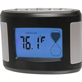 Sensor Touch Light Up Desk Clock Imprinted with Your Logo