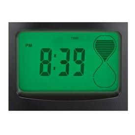 Imprinted Sensor Touch Light Up Desk Clock