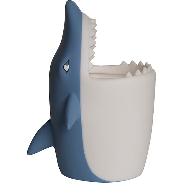 Blue / White Shark Pen Holder
