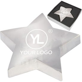 Monogrammed Shining Star Paper Weight
