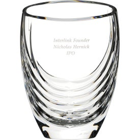 Siena Clear Crystal Vase Award