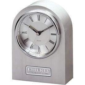 Printed Silver Arch Clock