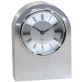 Silver Arch Clock for Customization