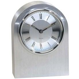 Silver Arch Clock for Customization
