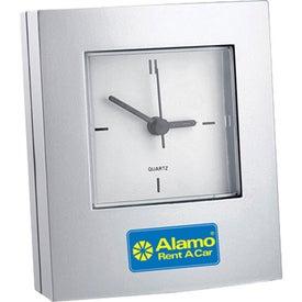 Monogrammed Simple Analog Desk Clock