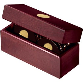 Six Coasters with Solid Cherry Chest for Promotion