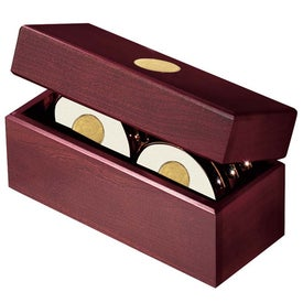 Six Coasters with Solid Cherry Chest for Your Company