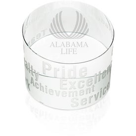 Monogrammed Slanted Paperweight