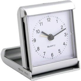 Slide And Fold Travel Alarm Clock for Promotion